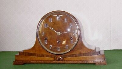 Antique Clock Impressive Burr Walnut Art Deco Whittington & Westminster Chimes