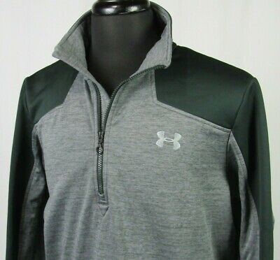 Men's Under Armour Cold Gear Fleece Lined 1/2 Zip Athletic Jacket Large