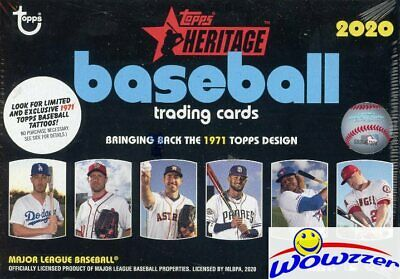 2020 Topps Heritage Baseball EXCLUSIVE HUGE Factory Sealed Blaster Box-Loaded!