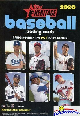 2020 Topps Heritage Baseball EXCLUSIVE Factory Sealed HANGER Box-Loaded!