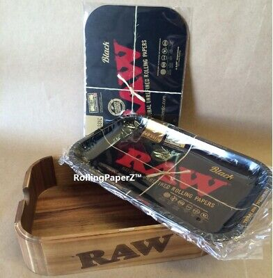 RAW Rolling Paper CACHE BOX+RAW BLACK Tray+RAW BLACK MAGNETIC TRAY COVER LIMITED