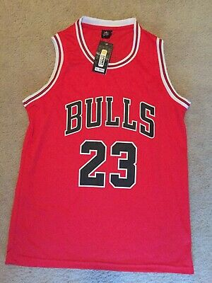 NWT Michael Jordan #23 Chicago Bulls Men's / Youth Red Jersey 3xl Chinese Sized