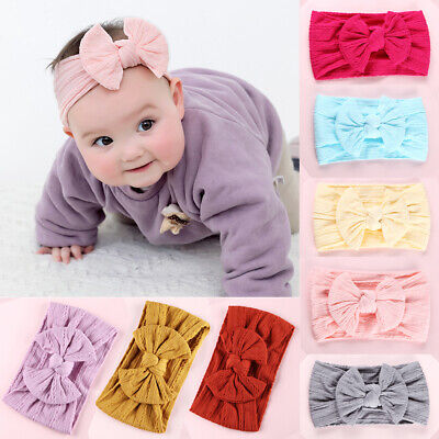 Cute Baby Boys Girls Kids Toddler Hairband Headband Stretch Turban Head Wrap