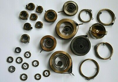Antique Clock Mechanics Parts Clock Springs Varied Sizes 28x Pieces From Sweden