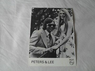 PETERS & LEE - autographed photo signed by Peters & Lee singers WELCOME HOME etc
