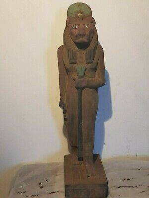 Rare Antique Ancient Egyptian Statue God Sekhmet Lion War Army Hunt 1810-1740BC