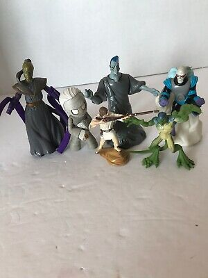 "Lot Of Six "" Bad Guy"" Figures. Zombie, Lizard Man, Etc. Range From 2"" To 3"" Long"