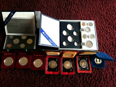 Bulk Of 9 Canada Silver Dollars And Proof Like Mint Sets 1970 - 1988