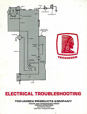 Tecumseh Electrical Troubleshooting  Shop  Manual
