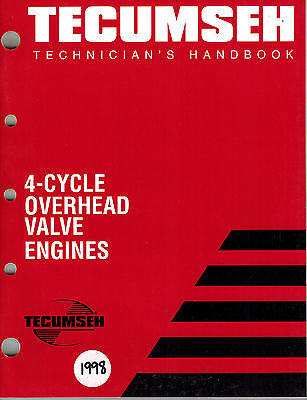 Tecumseh 4-Cycle Ohv  Technician's  Handbook  Engine Shop  Manual 1998