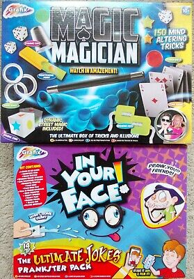 MAGIC MAGICIAN & IN YOUR FACE JOKES - Grafix Tricks & Illusions - Prank Set Kids