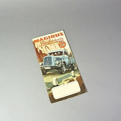 Magirus Road Map 50er Years Sheet South Germany 1.120Z