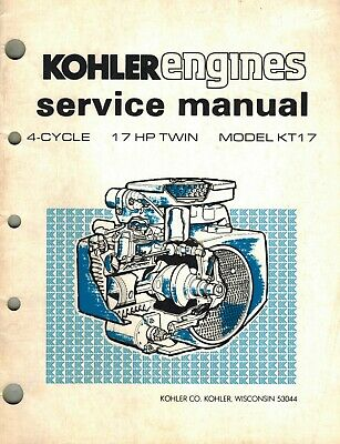 Kohler  17 Hp Kt17  Engines  Service Manual