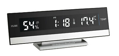 NEW Digital Alarm Clock with Room Temperature in Black- ATW Australia,Clocks
