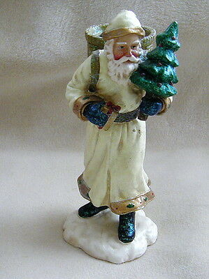 EUC Department 56 Resin Old World Santa Candle Taper Holder #56.47438