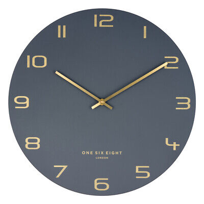 NEW Charcoal Blake Metal Wall Clock - OneSixEightLondon,Clocks