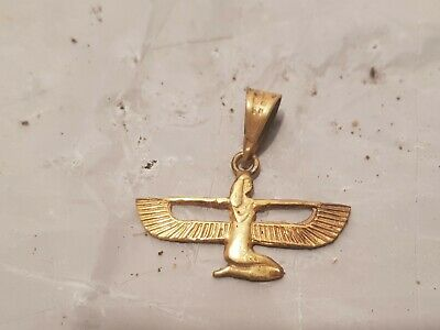 Rare Antique Ancient Egyptian Gold Hanger God Isis Good Health Cure 1640-1570BC