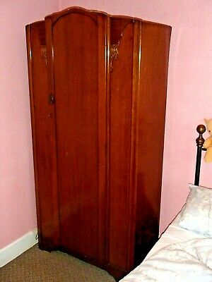 VINTAGE WARDROBE WITH DETAIL APPROX 92cm WIDE 191cnm TALL 45cm DEEP