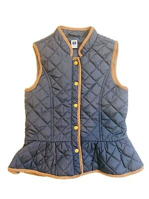 NWT Janie And Jack Quilted Peplum Vest Size 5-6 Girls NWT