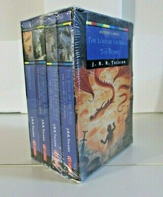 LORD OF THE RINGS / HOBBIT by J.R.R. Tolkien; Collins Boxed Set Paperback SEALED