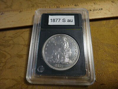 1877-S United States Silver Trade Dollar $1 AU/BU Detail - Very Sharp Coin
