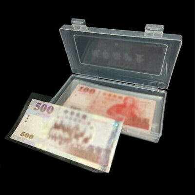 100pcs Paper Money Sleeves Banknote Collection Clear Case Protector Storage Bags