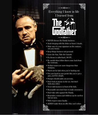 The Godfather Everything I Know in Life Movie Cool Wall Decor Art Print Poster 2