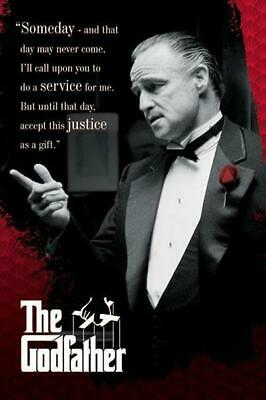 """The Godfather Someday Quote Movie Cool Wall Decor Art Print Poster 24"""" x 36"""""""
