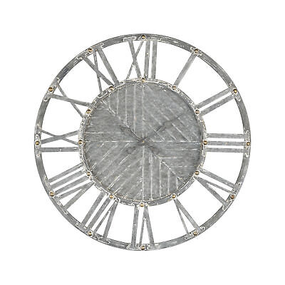ELK Home Janice Wall Clock in Galvanized Steel with White Antique