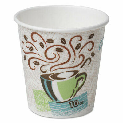 Dixie Perfectouch Paper Hot Cups, 10 Oz, Coffee Haze, 1000/Carton