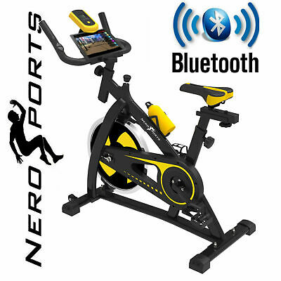BLUETOOTH Nero Sports Exercise Bike Cycle Indoor Training 12kg Spinning flywheel