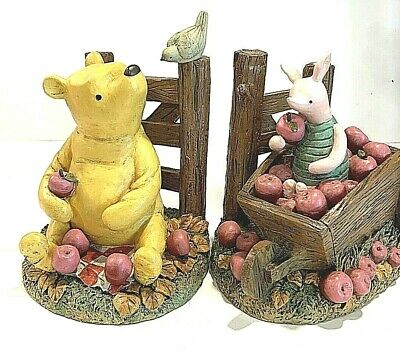 Vintage RARE Disney Classic Winnie The Pooh With Piglet Book Ends
