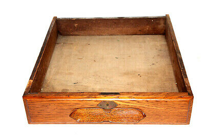 Antique Wooden Drawer with Keyhole Hardware Restoration Project Single Drawer