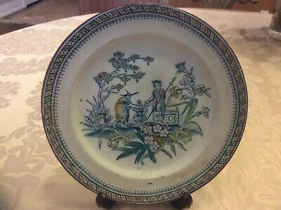 Chinese Antique Porcelain Plate CHANG EM & CO. EDGE MALKIN RARE Collectable
