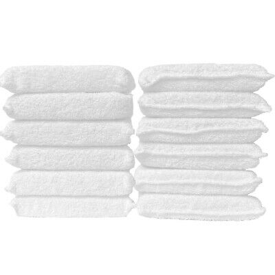 "3X Car Detailing Buffing Polish Wax 6/"" Cotton Terry Cloth Applicator Pads"