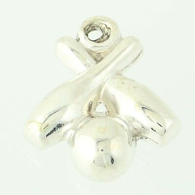 Bowling Pin Bille et .925 Solid Sterling Silver European Dangle Bead Charm euro