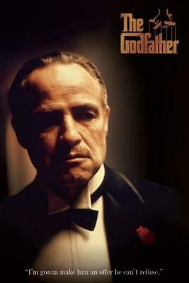 The Godfather Cant Refuse Offer Movie Quote Cool Wall Decor Art Print Poster 12x