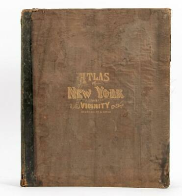 Beers Antique 1867 Atlas New York & Vicinity Brooklyn Complete Maps 18x15 HTF