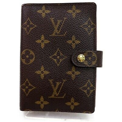 Authentic Louis Vuitton Diary Cover R20005 Agenda PM Browns Monogram 906850