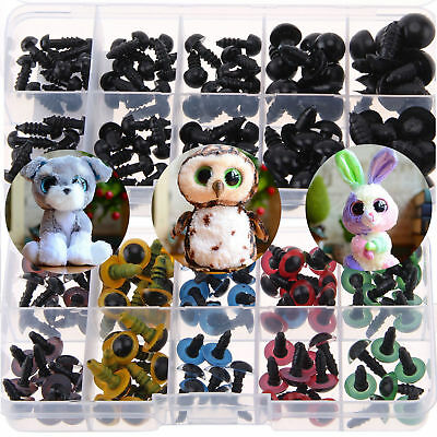 100X DIY Plastic Safety Eyes Toys Teddy Bear Doll Animal Making Craft Screw Good
