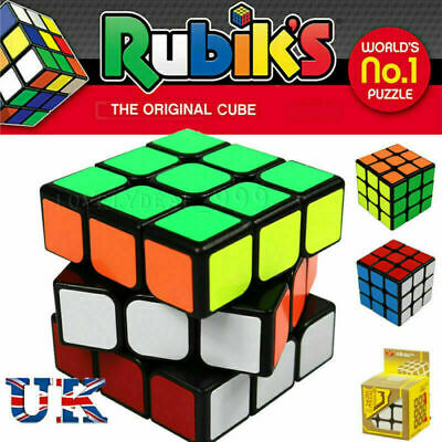 Kids Fun Toy Original Rubiks Cube Rubix Magic Rubic Mind Game Classic Puzzle 3x3
