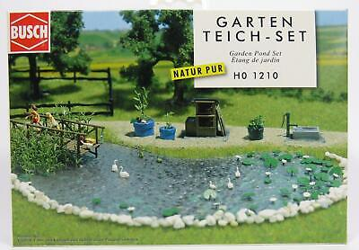 Bnib Oo / Ho Busch 1210 Garden Pond - Fish Pond - Complete With Fish & Plants
