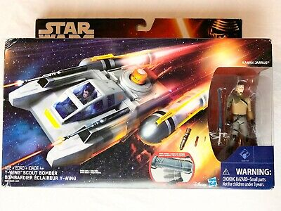 """Star Wars Y-wing Scout Bomber véhicule Kanan jarris 3.75/"""" ACTION FIGURE 2015 NEW"""