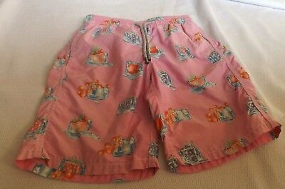 Age 10 Vilebrequin Pink Swimming Shorts Fruit Ice Cubes Patterned