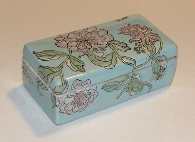 Antique Vintage Chinese Famille Rose Porcelain Divided Compartment Box w/ Lid