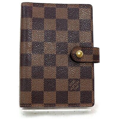 Authentic Louis Vuitton Diary Cover R20700 Agenda PM  Browns Damier 812555