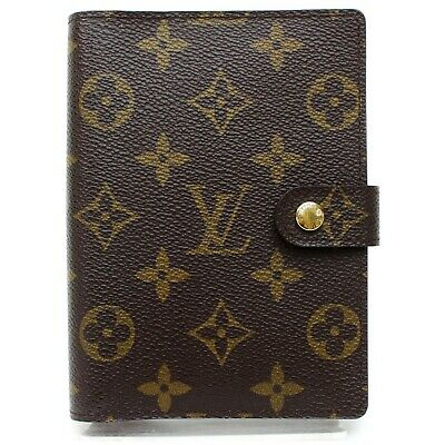 Authentic Louis Vuitton Diary Cover R20005 Agenda PM Browns Monogram 1113458