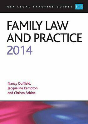 Family Law and Practice 2014: LPC Guide (CLP Legal Practic... by Sabine, Christa