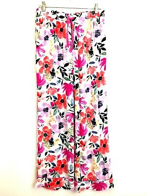 Cynthia Rowley Women's size Small Pajama PJ Lounging Pants Floral Multi Colored