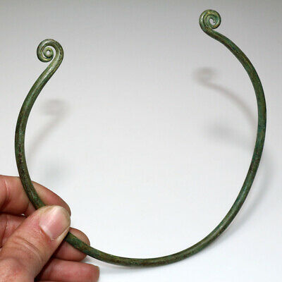 Museum Quality Iron Age Ancient Greek Bronze Torc Circa 800-500 Bc